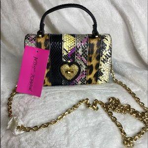 Betsey Johnson snake my day crossbody bag